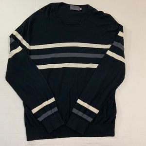 Men's Vince Striped Long Sleeve Sweater XL